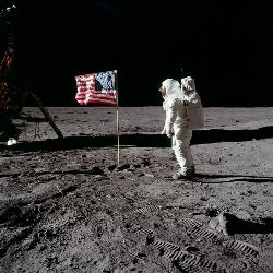 Buzz Aldrin on the Moon 1969